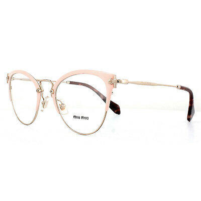 the latest c8953 f31fb MIU MIU MONTATURE Occhiali MU50QV VYJ1O1 Rosa Oro Pallido 52mm da Donna