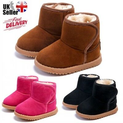Infant Baby Toddler Winter Warm Snow Boots Kids Boys Girls Chelsea Martin Shoes