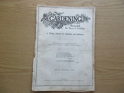 GARDENING ILLUSTRATED FOR TOWN AND COUNTRY, VOLUME 2 - 6/3/1880 to 26/2/1881