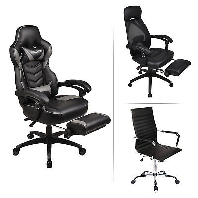 High Back Office Chair Ergonomic Adjustable Swivel Executive Computer Desk Seat