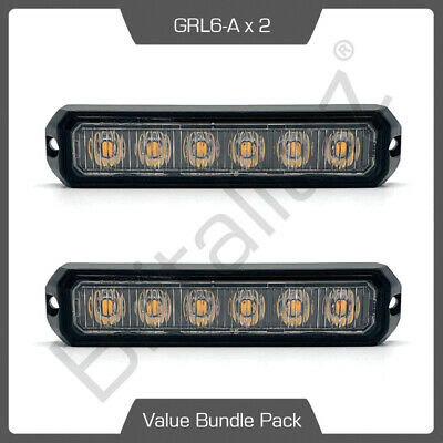 2 x Amber Warning Light Flashing Strobe Warning Lamp 12/24v R65 R10 UK, DEAL