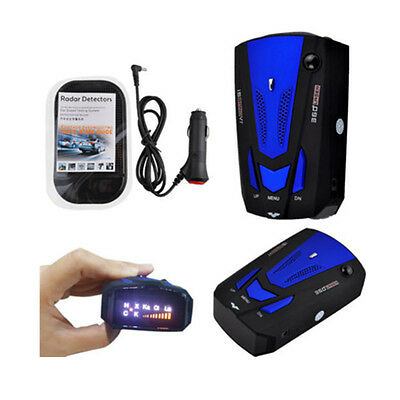 360° Auto Voice Alert Warning Car Trucker GPS Speed Laser Radar Detector 16 Band