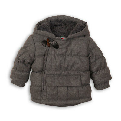 Baby Toddler Boys Chambray Effect Grey Jacket Coat 0-24 Months