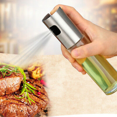 Oil Spray Bottle Pump Glass Olive Cooking Pot Leakproof Drops Sauce Kitchen Tool