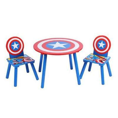 Marvel Avengers Kids Childrens Furniture Captain America Table And Chair Set
