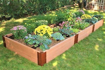 Frame It All Classic Sienna 4 ft. x 12 ft. Composite Raised Garden