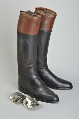 Foxhunter's Early C20th Leather Riding Boots with Lifts & Trees. Ref IMH