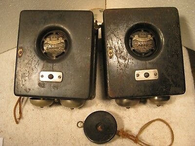 2 Antique Dictograph phone system sub stations