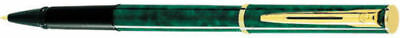 Waterman Apostrophe Green Marble & Gold Rollerball Pen New In Box Made In France