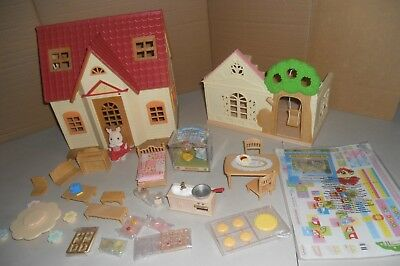 Sylvanian Families, Cosy Cottage, Forest Nursery,carry Case. No Boxes.