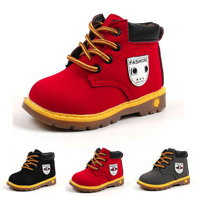 Baby Children Warm Boys Girls Martin Sneaker Boots Kids Baby Casual Shoes 1-6Y
