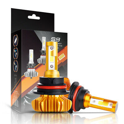 1 Pair S9 COB 9004 72W 8000LM Car Fog Bulb Led Headlight Hi/Lo Beam White 6000K