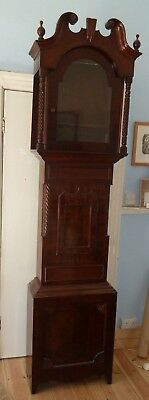 """Very large early Victorian longcase clock case - case only 94"""" by 24"""" by 10"""""""