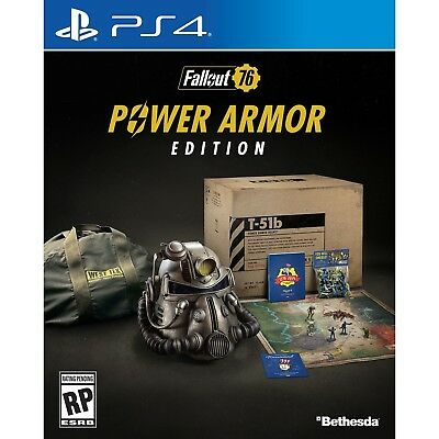 Fallout 76 Power Armor Edition PS4 Sony Collector's Edition Complete - Bethesda
