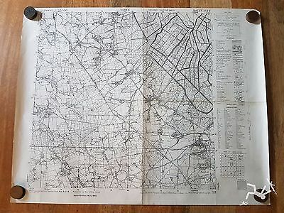 WW2 BRITISH ARMY MAP OF GERMANY - 2ND edition 1945 SHEET 3119 VILSEN