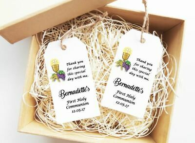 First Communion Favour Tags Personalised Gift Tags Baptism Tags Christening  Tag