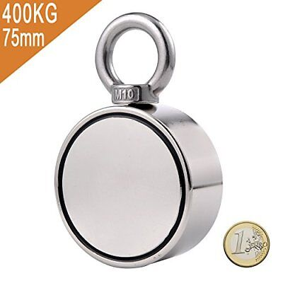 Uolor Double Side Super Strong Pulling Force Round Neodymium Magnet, Fishing Mag