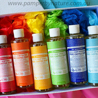 Dr Bronner's Pure Castile Organic Liquid Soap 237ml - 11 Different Varieties
