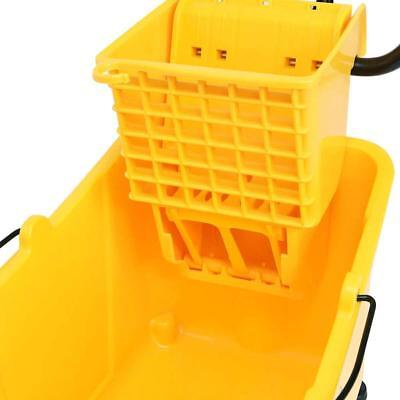 Commercial Mop Bucket Side Press Wringer Cleaning Caddy With 31 Quart Capacity