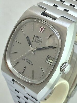 VINTAGE OMEGA GENEVE CHRONOMETER F300HZ TUNING FORK Needs Attention