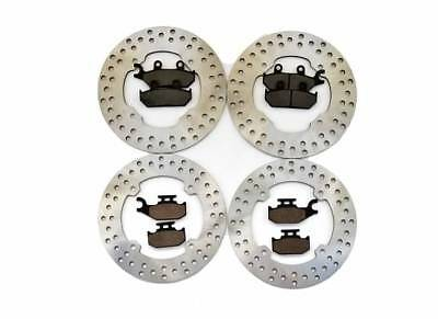 2014-2016 Can-Am Commander Max 1000 4x4 DPS Front and Rear Brake Rotors and Pads