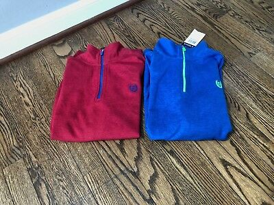 Chaps Boys Quarter Zip Sweatshirt Lot of 2 Size L New With Tags
