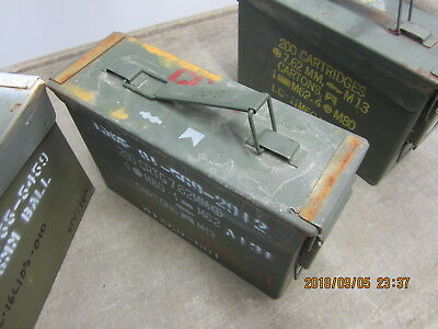 Military 7.62 MM Ammo Can Box .30 Cal, 200 Cartridges, M13 Carton Functional