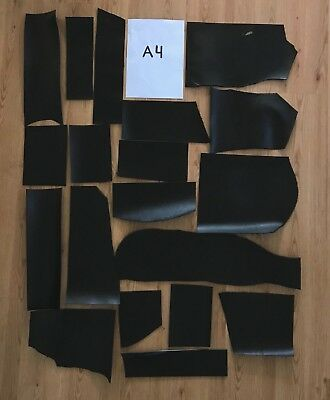 2kg Black Veg Tanned Leather Remnants 2-2.5mm Tooling Cowhide Offcuts Craft
