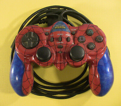 Spider-Man Dual Shock Controller for Sony Playstation 1 & 2 PS1 PS2
