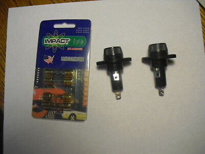 2 BUSSMAN HPF Panel Mount Fuse Holders and two 30 amp and two 40 amp AGU fuses
