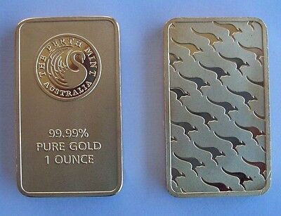 Perth Mint 1 oz gold plated bar - FREE SHIPPING!