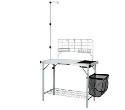 Camping Kitchen Outdoor Cooking Table Portable Camp Set Folding With