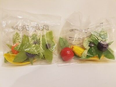 Vintage Refrigerator Magnets 2 Bags Fruit NIB Stanley Home Products POLY POPS