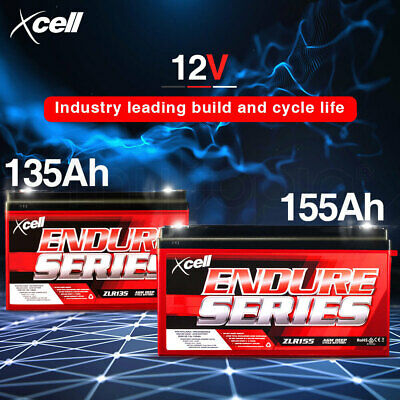 X-CELL 12V AGM Deep Cycle Battery Portable Sealed SLA Camping Solar Marine