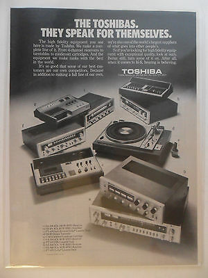 1973 Print Ad TOSHIBA High Fidelity Receivers Electronics ~ Speak for Themselves
