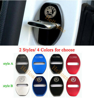 Styling Auto Accessories Stainless Steel Protective Car Door Lock For Skoda VRS