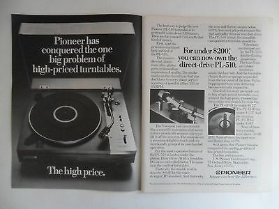 1978 Print Ad Pioneer Electronic Turntable ~ The High Price Solution