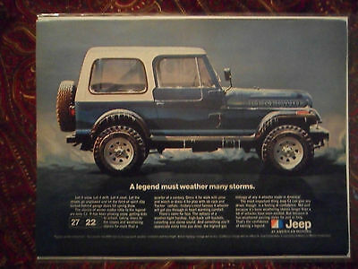 1981 Print Ad AMC Jeep Car Automobile ~ A Legend Must Weather Many Storms