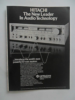 1978 Print Ad Hitachi SR 804 Stereo Receiver ~ The New Leader in Technology