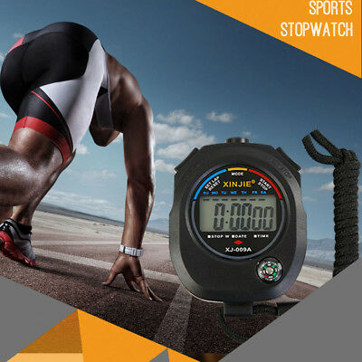 Digital Handheld Sports Stopwatch Clock Alarm Timer Running Cycling Stop Watch