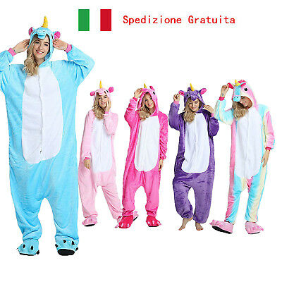 Pigiama Unicorno Costume Kigurumi Carnevale Adulti Animal Cosplay Halloween