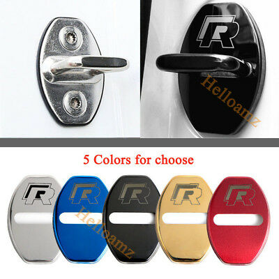 4X Styling Auto Accessories Stainless Steel Car Door Lock Striker Cover For VW R