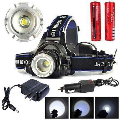 50000LM X-XM-L T6 LED Headlamp Headlight flashlight head light lamp Torch TH