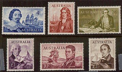 M1639dms Australia 1964 Navigators Set of 6 MUH stamps