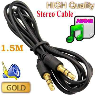 1.5M Gold Plated 3.5mm Jack Audio Sound Cable For Headphone MP3 iPod Plasma HDTV
