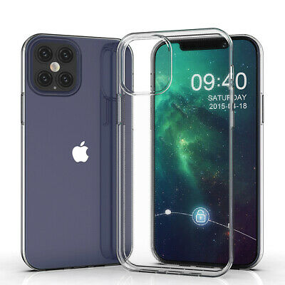 For iPhone 11 Pro Max XS XR Clear Case Soft Shockproof Transparent Rubber Cover