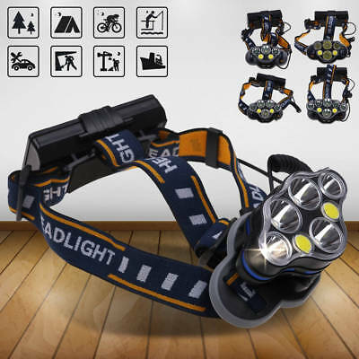 Tactical 30000LM Rechargeable T6 LED Headlamp 18650 Headlight Head Lamp Torch CA