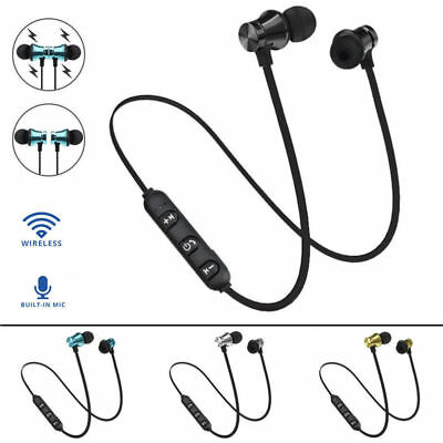 Wireless Bluetooth V4.2 Magnetic Sport Earphone Headset Stereo Headphones