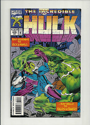 Hulk  #419 NM first full TALOS the TAMED