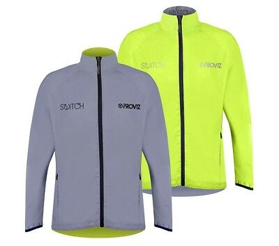 Proviz Switch Mens Reflective Cycling Jacket Silver/Yellow